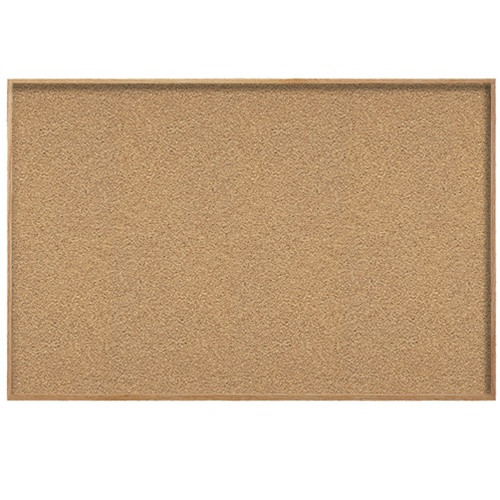 Ghent 4x6 Natural Cork Bulletin Board Wood Frame Wk46