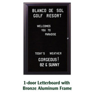 Ghent 24x18-inch Enclosed Black Letter Board - Bronze Aluminum Frame [PB12418B-BK]