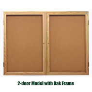 Ghent 36x48-inch Enclosed Cork Bulletin Board - Oak Frame [PW23648K]