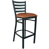 Advantage Ladder Back Metal Bar Stool - Mocha Padded [BSLB-BFMV]