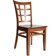 BFM Seating Pennington Cherry Window Pane Restaurant Chair [WC629CHCHW]