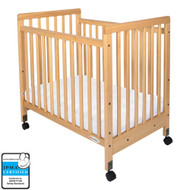 Foundations SafetyCraft Compact Fixed Side Crib - Slatted [1631040]