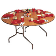 Correll CF48MR 4-ft Round Folding Banquet Table