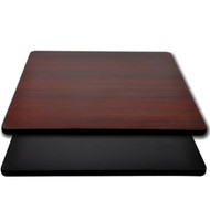 "Advantage 24""x24"" Restaurant Table Top - Black / Mahogany Reversible [CT2424-BMBLK]"
