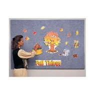 Ghent 4'x5' Wrapped PremaTak Vinyl Frameless Tack Board [12UV45-W]