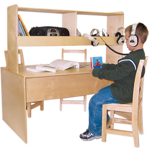 Wood designs listening center reading table wd17300 for Reading table design