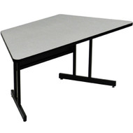 Correll 5 ft. Trapezoid Computer Table - Desk Height Melamine Laminate Top [WS3060MTR]