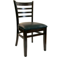 BFM Seating Burlington Walnut Wood Ladder Back Restaurant Chair [WC101WAV]