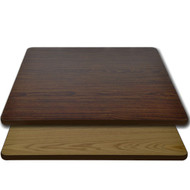 "Advantage 30""x30"" Restaurant Table Top - Oak / Walnut Reversible [CT3030-OWBR]"