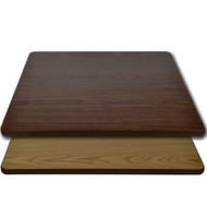 "Advantage 30""x30"" Restaurant Table Top - Oak / Walnut Reversible [CT3030-OWBR]"