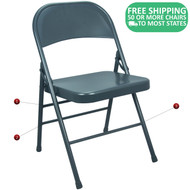 Advantage Slate Blue Metal Folding Chair [EDPI903M-NAVY]
