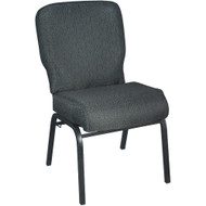 Advantage Signature Elite Patterned Black Church Chair [PCRCB-121] - 20.5 in. Wide