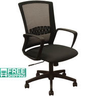 Black Mesh Office Chairs KB-8929-BLK | Black Seat | Desk Chair