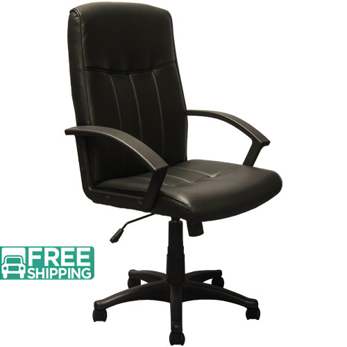 High Back Black Leather Executive Chairs KB 3001   Swivel Chairs