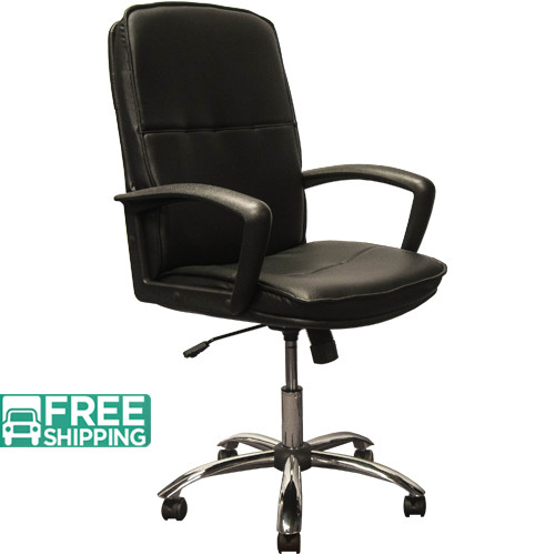 High Back Black Leather Executive Chairs With Chrome Base KB 3003 | Swivel  Chairs