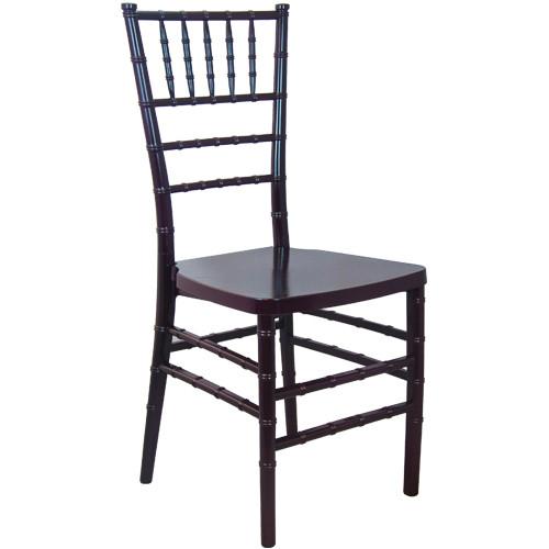 Mahogany Monoblock Resin Chiavari Chair | Chiavari Chairs For Sale