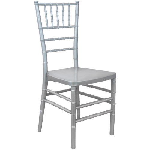 Silver Monoblock Resin Chiavari Chair | Chiavari Chairs For Sale