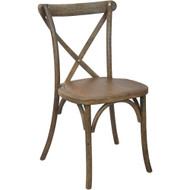Advantage Hand Scraped Dark Natural X-Back Chair [X-back-DNAT-EC]