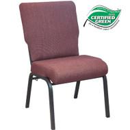 Advantage 20.5 in. Black Cherry Molded Foam Church Chair [PCCF-116]