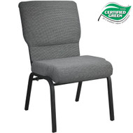 Advantage Black Marble Church Chair 20.5 in. Wide [PCHT-117]