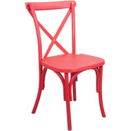 Advantage Red Resin X-Back Chair [RESXB-Red]