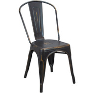 Advantage Brushed Copper Tolix Chair [TC-Brushed-Copper]
