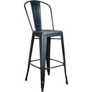 Advantage Black Tolix Bar Stool [TC-BAR-Black]
