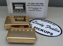 Lindy Fralin Pure PAF Stock Humbucker Pickup set - gold (7.5k/8.0k)