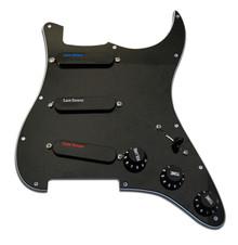 Lace Sensor Plus Pack Blue, Silver, Red Loaded Pickguard - black