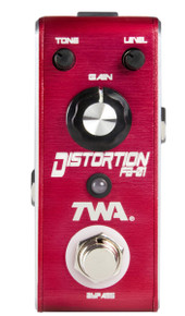 TWA Fly Boys FB-01 Distortion pedal with C-BAT/R 9v battery clip adapter cable