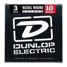 Dunlop Nickel Wound Medium Electric Guitar Strings 3 pack - 10-46