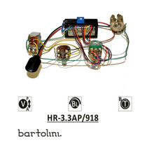 Bartolini HR-3.3AP Pre-Wired 2 Band EQ Active/Passive Vol, stacked bass/treble & blend