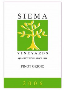 Siema Vineyards Pinot Grigio