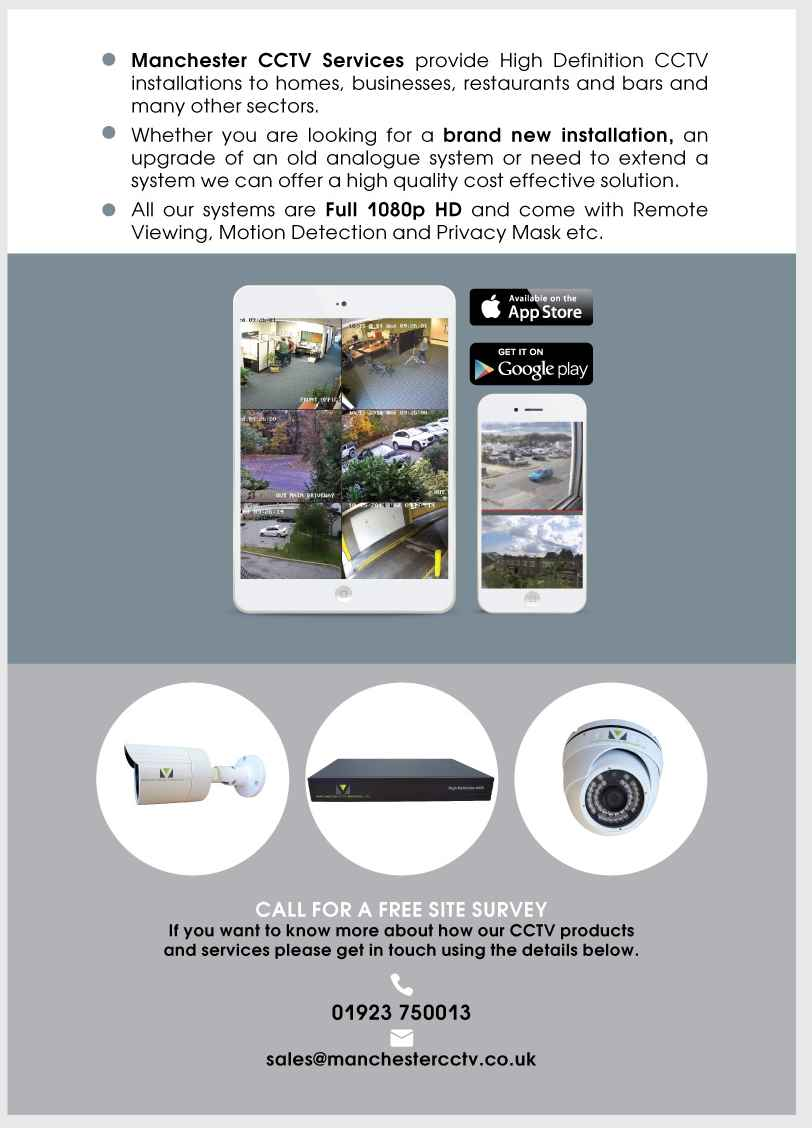 cctv installer 2 page brochure design vonaq