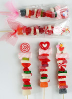 Forever Sweet Valentine Gummi Candy Kabobs-Set of 3 Kabobs