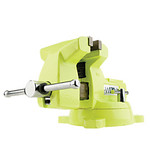 """Wilton 1550 High-Visibility Safety 5"""" Vise with Swivel Base"""