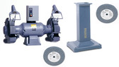 "Baldor 1411W 14"" Bench Grinder with GA20 Pedestal and Wheels Package"