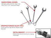 Sunex 9604 SAE Combination Wrench Set Features