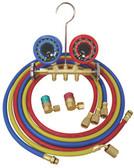 ATD 3693 R134a Economy Brass Manifold Gauge Set