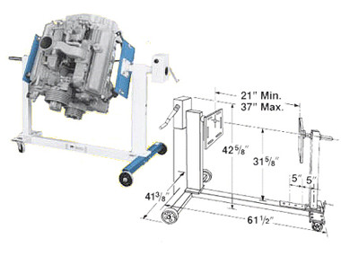 Otc 1735b Engine Stand Mile X Equipment