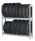 Rivetier R2-2SES 5' x1' x 5' Automotive Tire Rack Starter