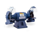 """Baldor 8"""" Grinder and Buffer, 3 PH, 3,600 RPM, Cast Iron Tool Rest, Exhaust"""