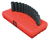 "Sunex 3359 13 pc. 3/8"" Drive 6-Point Deep Metric Impact Socket Set"