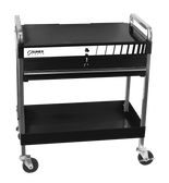 Sunex Black Service Cart with Locking Top and Drawer