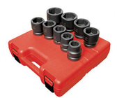 "Sunex 5699 1"" Dr. 9 Pc. SAE Impact Socket Set"