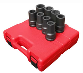 "Sunex 5681 1"" Dr. 8 Pc. SAE Deep Impact Socket Set"