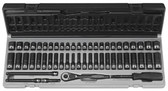 "Grey Pneumatic 89653CRD 1/4"" Dr. 53pc 6pt. Fractional & Metric Duo-Socket Set"