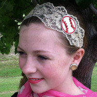 Lace Baseball Headband