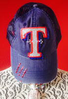Texas Rangers Blinged Baseball Cap