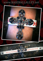 Baseball Strap cross Bracelet